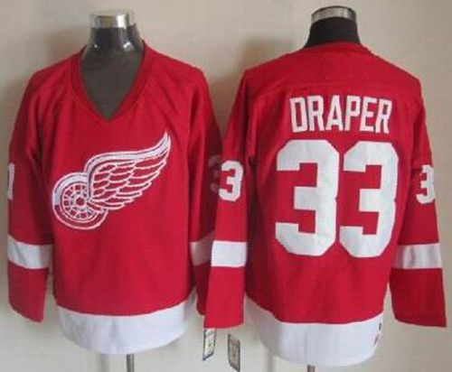 Red Wings #33 Kris Draper Red CCM Throwback Stitched NHL Jersey